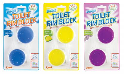 Picture of Duzzit Toilet Rim Block 2 In 1