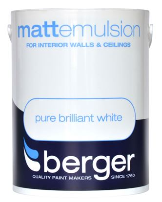Picture of Berger Vinyl Matt 5L Pure Brilliant White