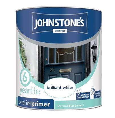 Picture of Johnstones Exterior Primer Undercoat 750ml Brillaint White