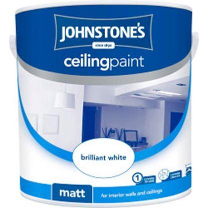 Picture of Johnstones Ceiling Paint 2.5L Brilliant White