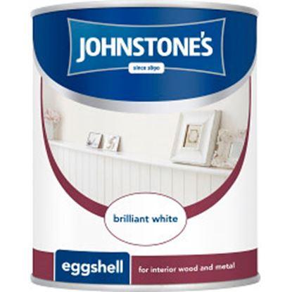 Picture of Johnstones Eggshell 750ml Brilliant White