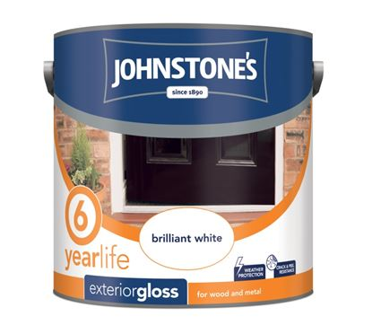 Picture of Johnstones Exterior Gloss 2.5L Brilliant White