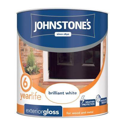 Picture of Johnstones Exterior Gloss 750ml Brilliant White