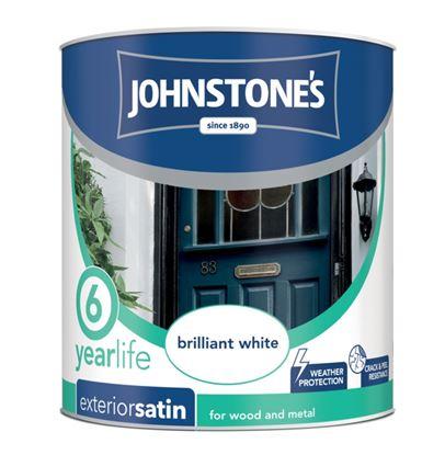 Picture of Johnstones Exterior Satin 750ml Brilliant White