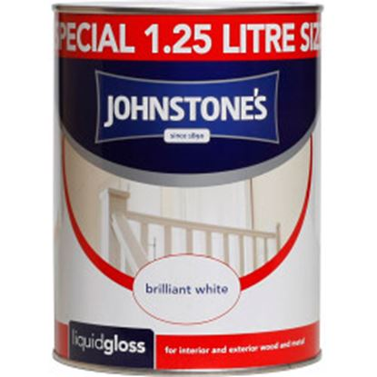 Picture of Johnstones Liquid Gloss 1.25L Brilliant White