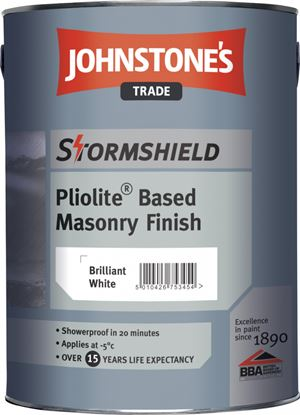 Picture of Johnstones Trade Stormshield Pliolite Based Masonry Finish L 5L Mixer