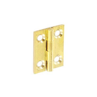 Picture of Securit Brass Butt Hinges Self Colour Pair 25mm
