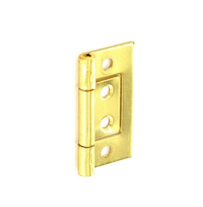 Picture of Securit Flush Hinges Brass Plated Pair 75mm