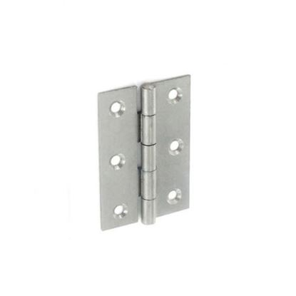 Picture of Securit 5050 Steel Narrow Butt Hinges Self colour 50mm Pack 20