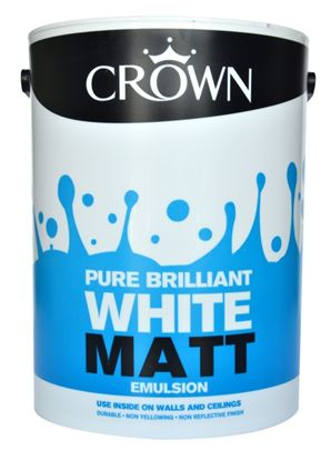Picture of Crown Matt Emulsion  5L Pure Brilliant White