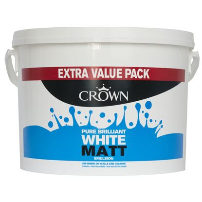 Picture of Crown Matt Emulsion 7.5L Pure Brilliant White