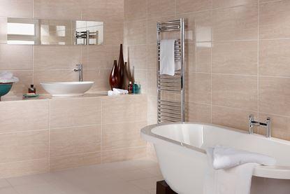 Picture of British Ceramic Tile Dorchester Travertine Multi-use 600 x 300mm