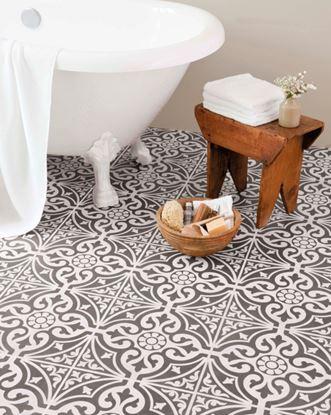 Picture of British Ceramic Tile Devon Stone Feature Dark Grey Floor 331x331mm  Dark Grey