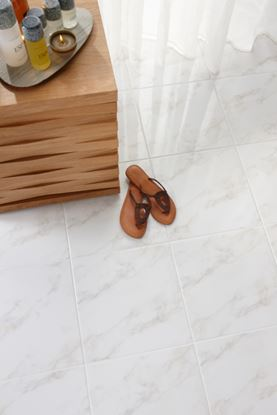 Picture of British Ceramic Tile Dorchester Carrara White Floor 331x331mm  White