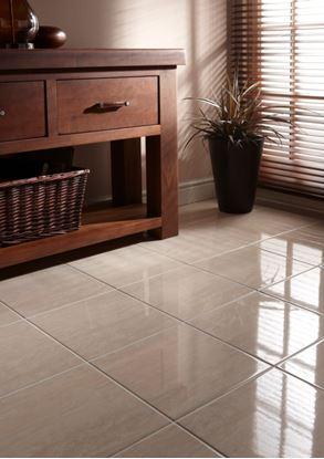 Picture of British Ceramic Tile Dorchester Travertine Floor 331x331mm  Travertine
