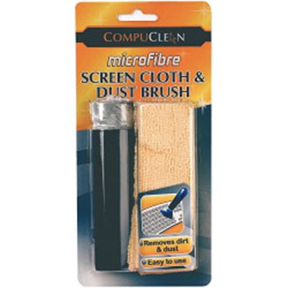 Picture of Compuclean Microfibre Screen Cloth  Dust Brush