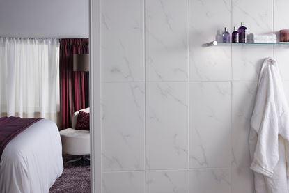 Picture of British Ceramic Tile Dorchester Carrara White Field 600 x 300mm