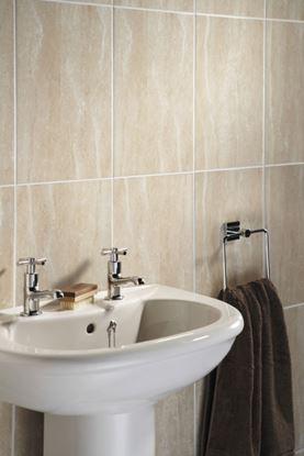 Picture of British Ceramic Tile Elgin Marbles Travertine Field 248x398x8.25mm  Travertine