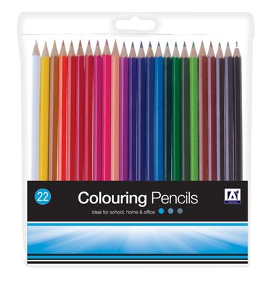 Picture of A Star Assorted Colouring Pencils Pack 22