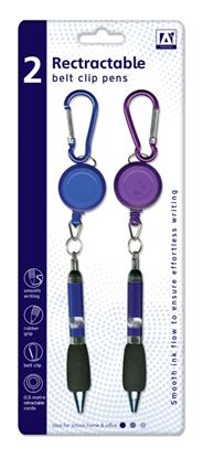 Picture of A Star Retractable Belt Clip Pens Pack 2