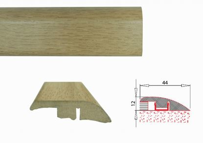 Picture of Flooring Accessories MDF Laminate Threshold Profile 0.90m R section - White Oak 8mm