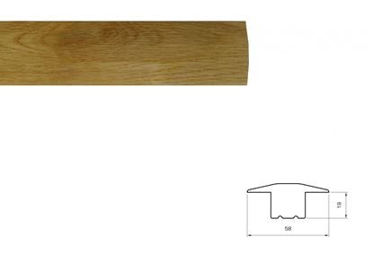 Picture of Flooring Accessories Prefinished Solid Oak Profile 2.70m T Section 18mm