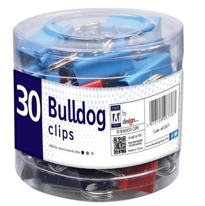 Picture of A Star Bulldog Clips in Tube Pack 30