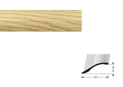 Picture of Flooring Accessories Stick Down 2-18mm Adjustable R 0.90m Oak