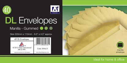 Picture of A Star DL Gummed Manila Envelopes Pack 40