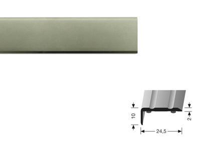 Picture of Flooring Accessories Stickdown End Profile 90cm Brushed Steel
