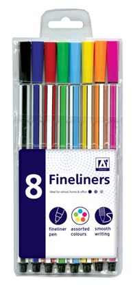 Picture of A Star Fineliners Pack 8 Assorted