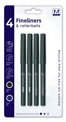 Picture of A Star Fineliners  Rollerballs 2 Of Each