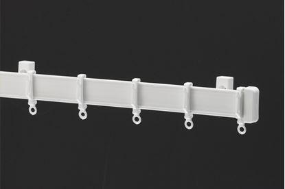 Picture of Harrison Drape Standard Drape Curtain Track 270cm White