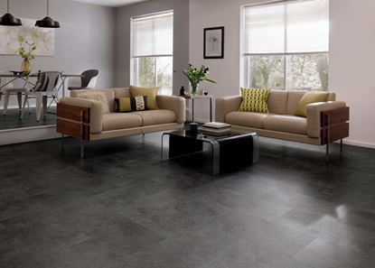 Picture of Karndean Cetona Black Vinyl Floor Tile 600 x 307 1.842m