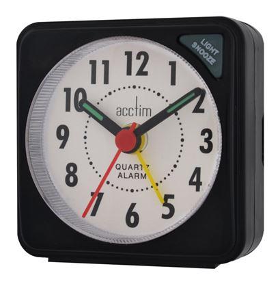 Picture of Acctim Ingot Mini Alarm Clock Black