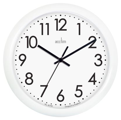 Picture of Acctim Abingdon Wall Clock White 25.5cm