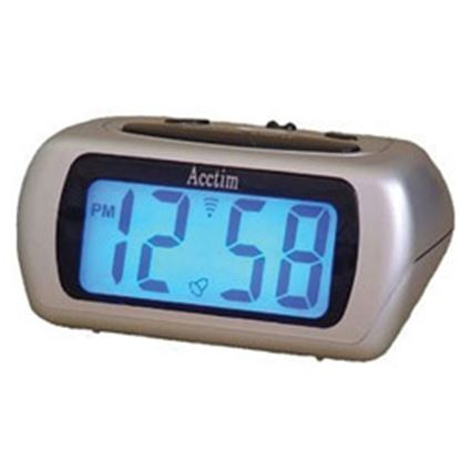 Picture of Acctim Auric LCD Clock Silver