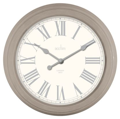 Picture of Acctim Chester Soft Vintage Clock 35.5cm Mocha