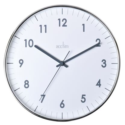Picture of Acctim Jenson Chromed Wall Clock 30cm