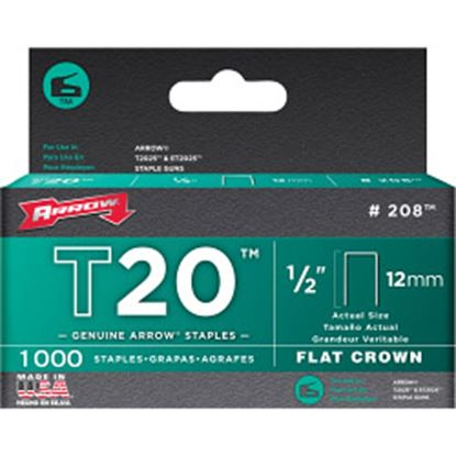 Picture of Arrow T20 Staples 12mm 1000