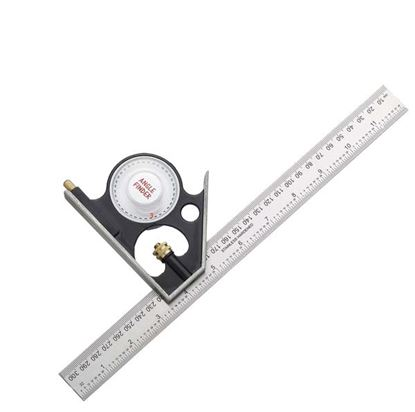 Picture of Fisher Combination Square - English  Metric Markings 12300mm Angle Finder