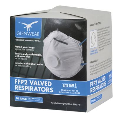 Picture of Glenwear FFP2 Valved Respirator Pack Of 10