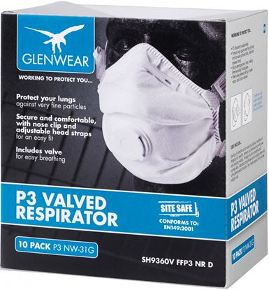 Picture of Glenwear FFP3 Valved Respirator Pack Of 10