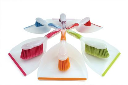 Picture of Bentley Brights Dustpan  Brush Assorted Colours