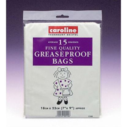 Picture of Caroline Greaseproof Bags 15 7 x 9 18cm x 23cm