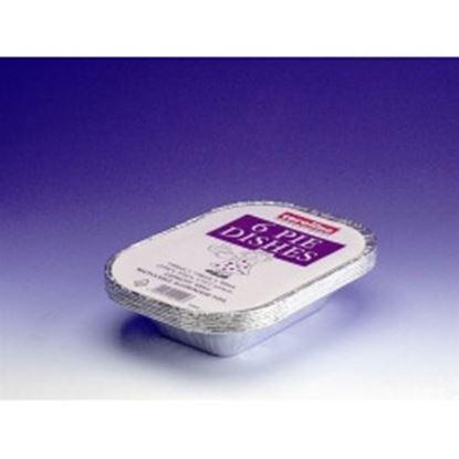 Picture of Caroline Rectangle Foil Pie Dish Pack 6 16oz