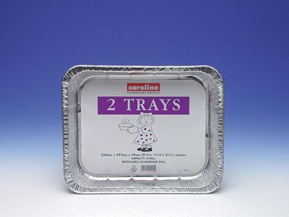 Picture of Caroline Foil Tray 2 Pack 236mm x 297mm x 59mm