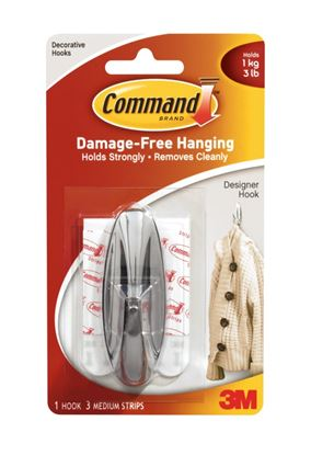 Picture of Command Decorative Hook 1 hook 2 medium strips