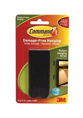 Picture of Command Large Picture Strips 4 Sets of Black Strips