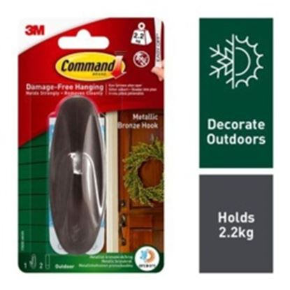 Picture of Command Outdoor Designer Hook Large Bronze Metallic